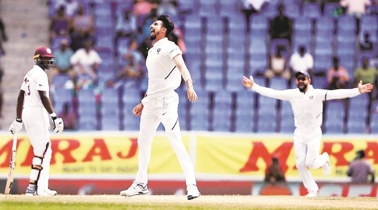 Ishant Sharma, Jasprit Bumrah, Ishant five wicket haul, Ishant Sharma five wickets, India tour of West Indies 2019, India vs West Indies 1st Test 2019, West Indies vs India 1st Test, IND vs WI 1st Test, WI vs IND 1st Test