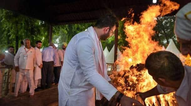 Arun Jaitley's cremation