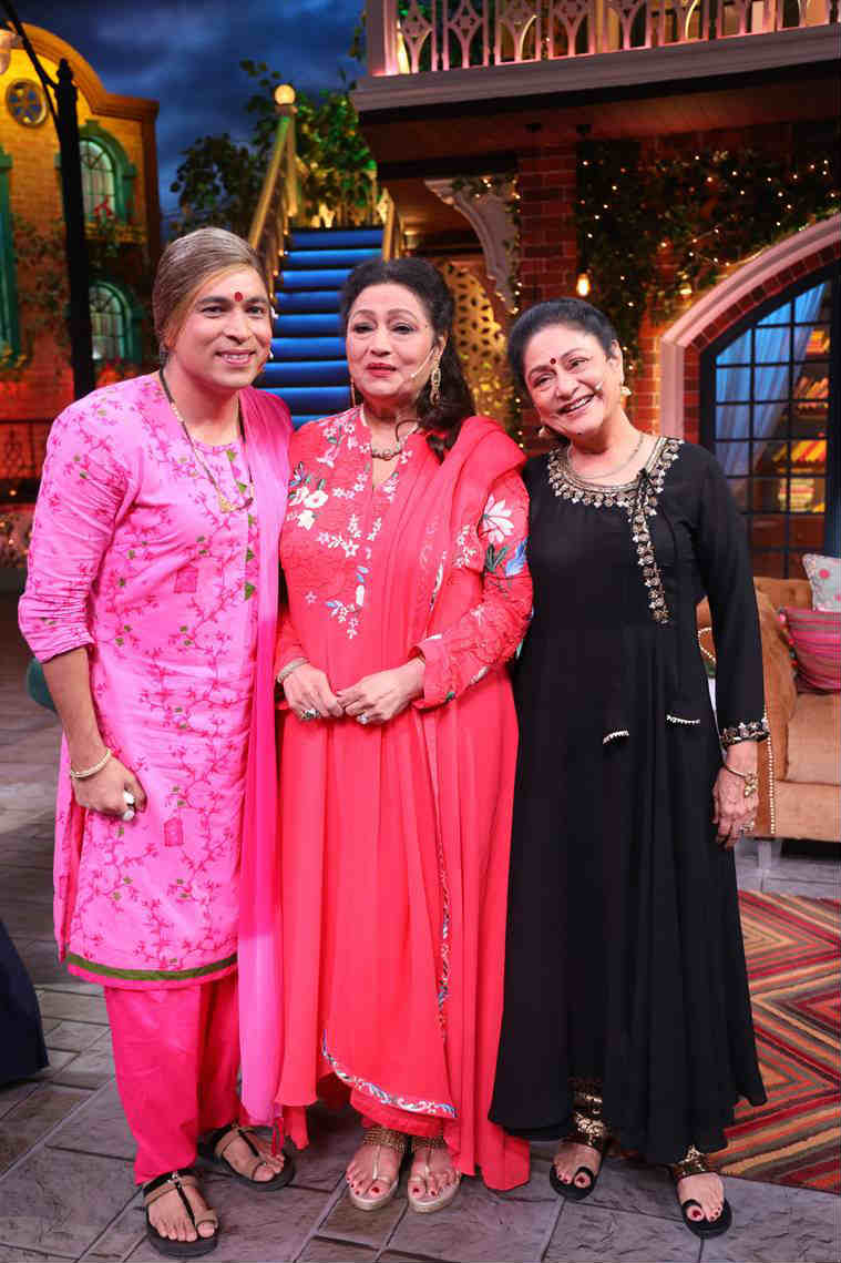 Aruna Irani and Bindu kapil sharma show