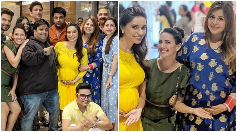 Kapil Sharma attends a baby shower wife Ginni Chatrath baby bump photos