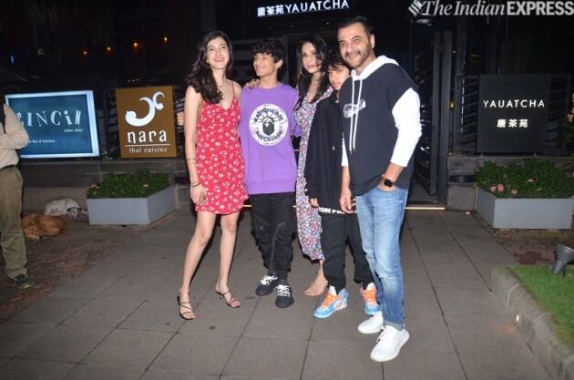 sanjay kapoor at reena marwah birthday