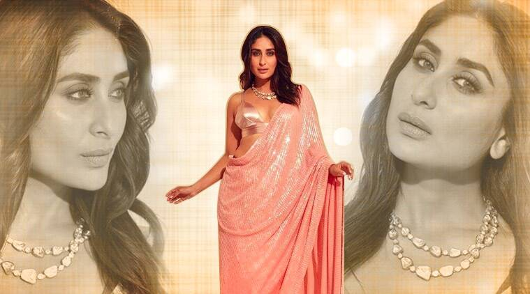 Kareena Kapoor Khan's pink sari with sequin work is a must-have this festive season