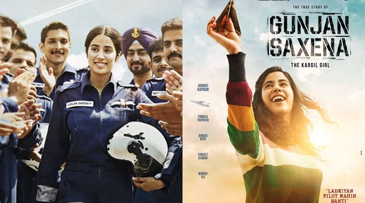 Gunjan Saxena The Kargil Girl First Look Janhvi Kapoor Looks The Part Entertainment News The Indian Express
