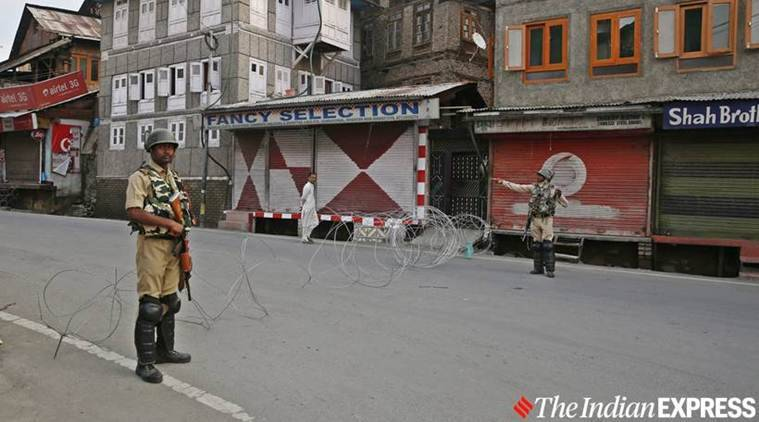 jammu and kashmir curfew, J&K curfew restrictions, J&K section 144 imposed, J&K article 370 revoked