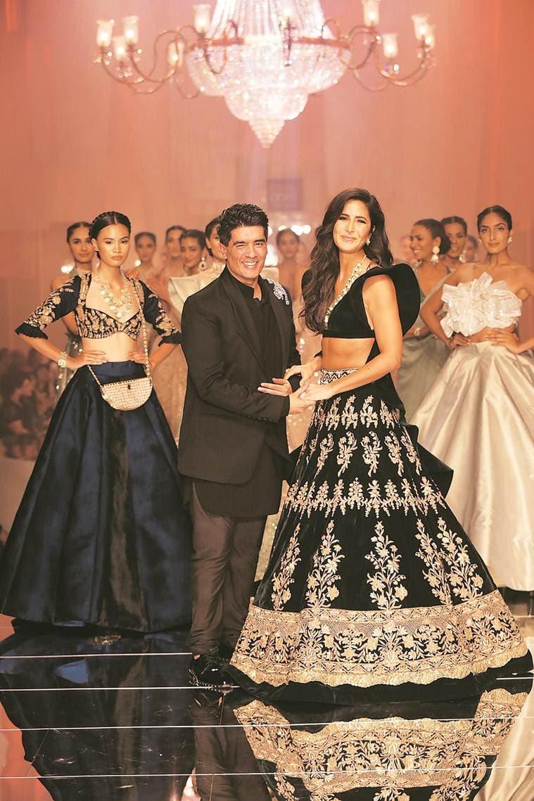 lakme fashion week, lakme fashion week 2019, lakme fashion week mumbai, manish malhotra, katrina kaif, karan johar, manish malhotra collection, fashion designers, bling, bollywood, lifestyle news, indian express news