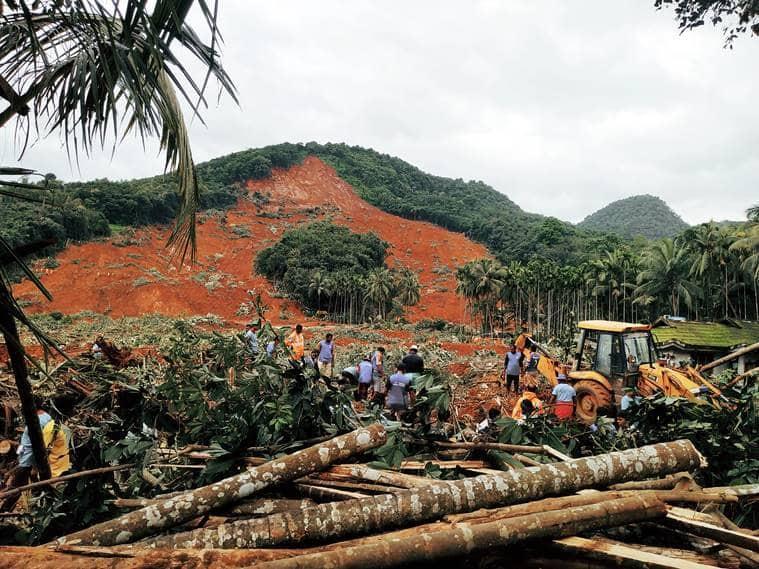 Kerala weather, kerala flood, kerala rains, Kavalappara landslide, Kavalappara landslide rescue operations, Kavalappara landslide rescue ops,