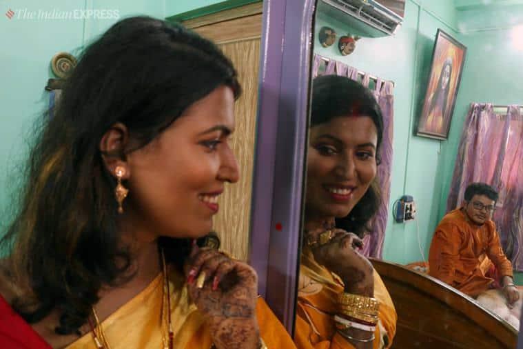 kolkata transgender wedding, transgender couple tie knot, bengal first rainbow wedding, Sex reassignment surgery, transgender rights, transgender wedding in india, LGBTQ india, transgender bill, indian express