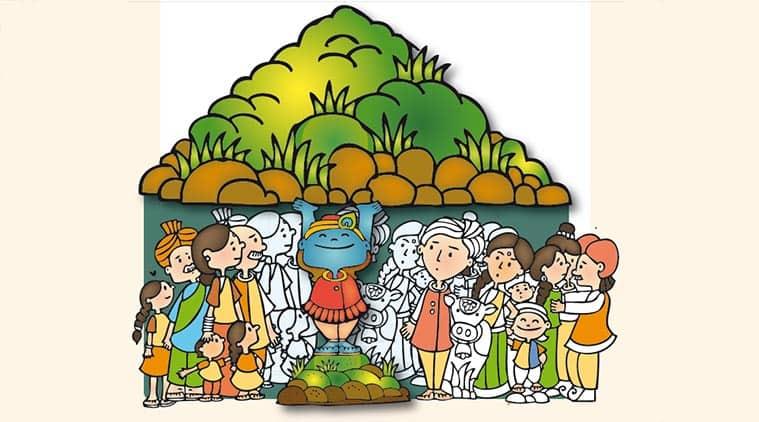Janmashtami story for kids: When Krishna saved Vrindavan