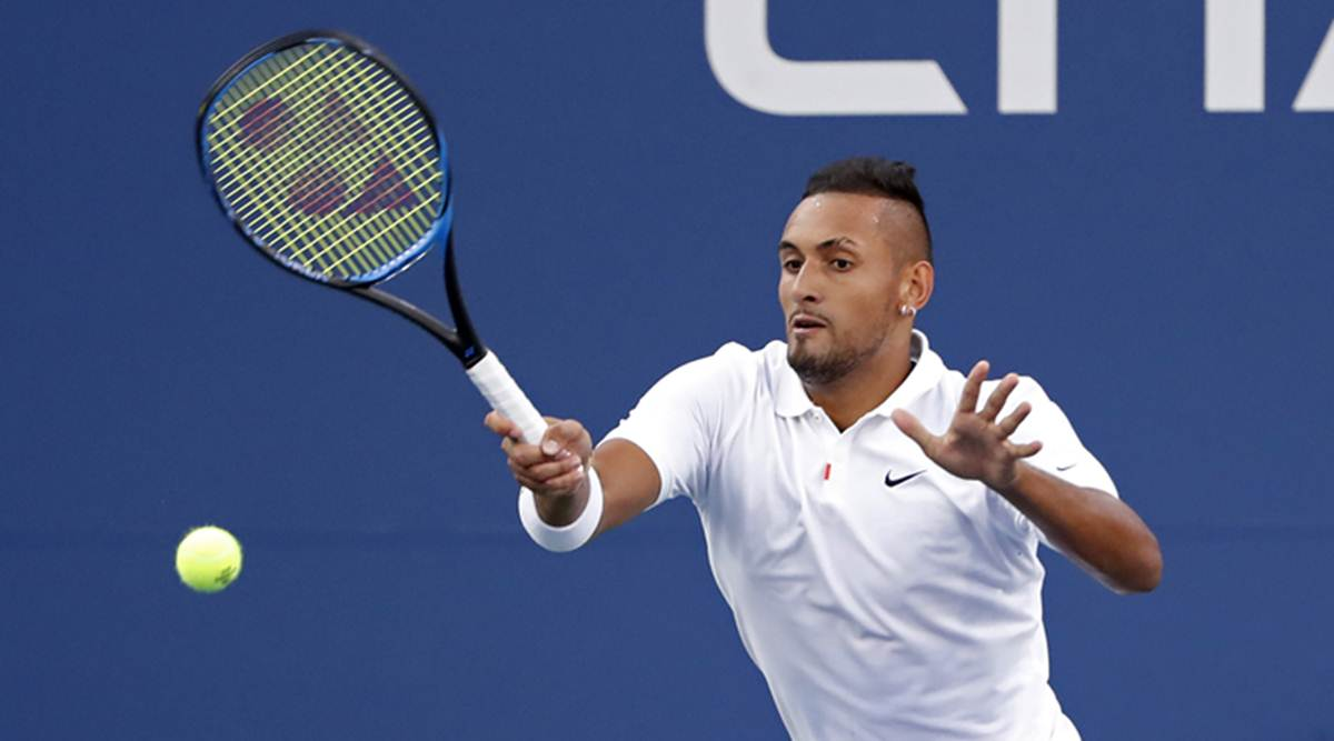 Nick Kyrgios, Nick Kyrgios collar, Nick Kyrgios vs Antoine Hoang, Nick Kyrgios outburst, Nick Kyrgios US Open 2019, Nick Kyrgios referee, Nick Kyrgios fight, tennis news