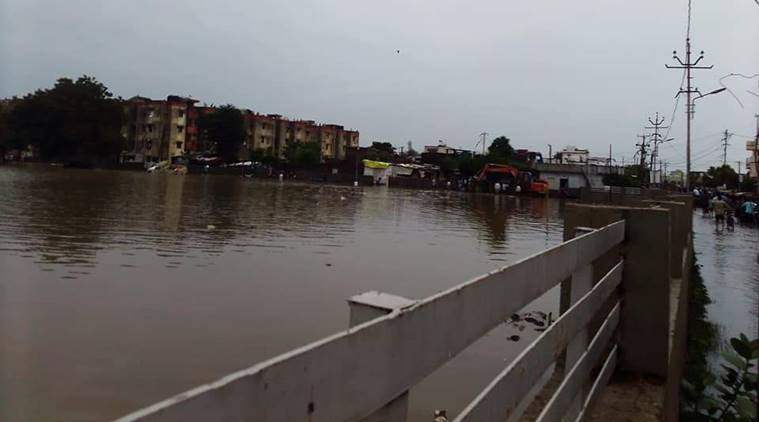 Mahadev lake in Wadi area is the city spills over