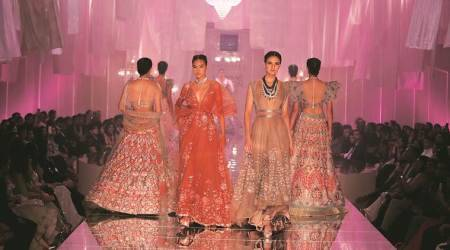 lakme fashion week, lakme fashion week 2019, lakme fashion week mumbai, manish malhotra, katrina kaif, karan johar, manish malhotra collection, fashion designers, bling, bollywood, lifestyle news, indian express news