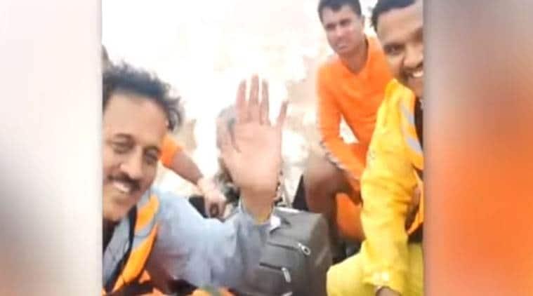 Maharashtra: Minister on flood survey caught smiling on camera in deluge-hit Sangli; Oppn fumes