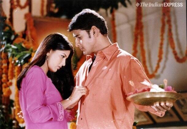 mahesh babu with sonali bendre