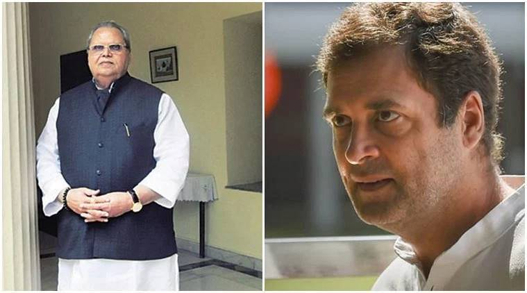 I accept the invitation, when can I come to J&K? Rahul Gandhi asks Guv Satya Pal Malik