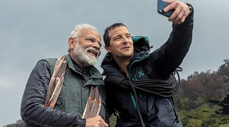 pm narendra modi bear grylls man vs wild
