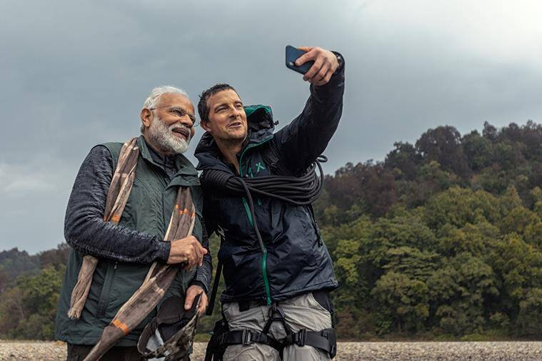 Man Vs Wild With Bear Grylls and Prime Minister Modii