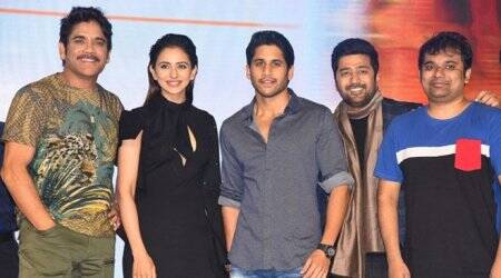 manmadhudu 2 pre release event with nagarjuna and rakul preet