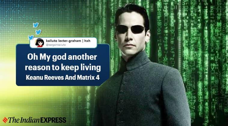 matrix, matrix 4, Keanu Reeves, Carrie-Anne, matrix 4 Keanu Reeves and Carrie-Anne, indian express, entertainment news