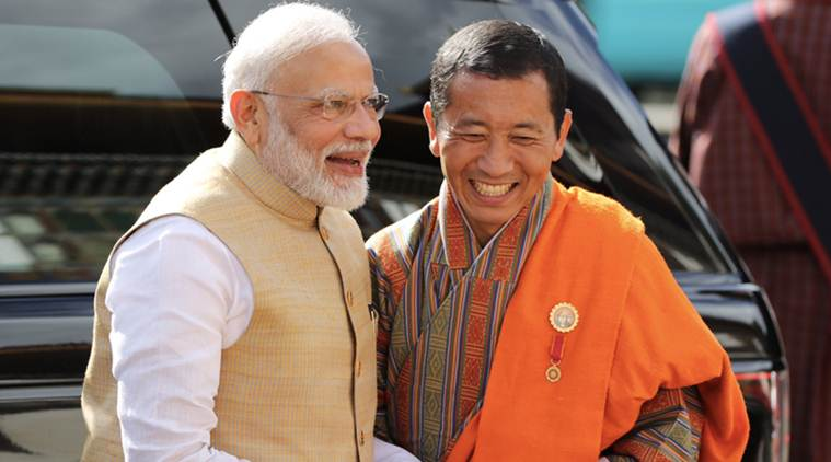 Narendra Modi, PM in Bhutan, Modi in Bhutan, Bhutan University, India Bhutan relations, PM Modi, Thimpu, Modi in Thimpu, Indian Express