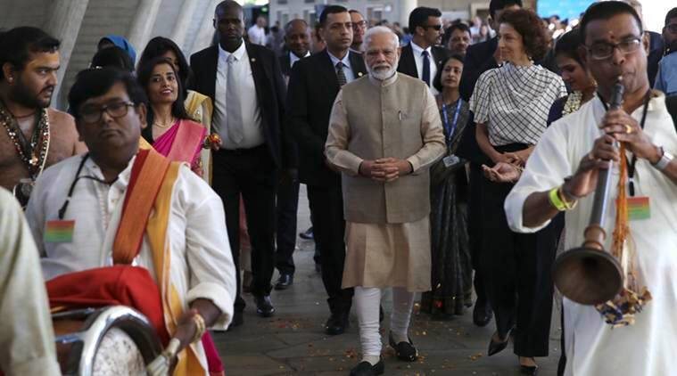 PM Modi brings up J&K in France: Took 70 years to remove the word 'temporary'
