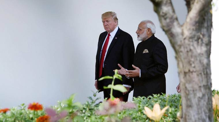 kashmir at g7 summit, Narendra Modi, Donald Trump, India US relations, G7 France, G7 India, Emmanuel Macron, India News, Indian Express, kashmir, Donald Trump on kashmir, India Pakistan relations