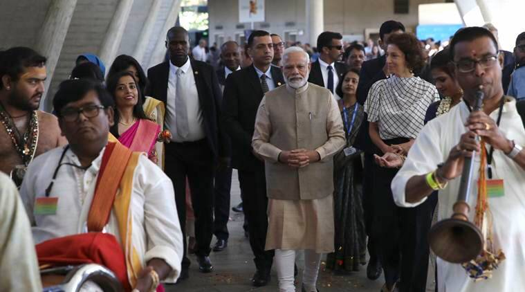 No scope for 'temporary' in India, PM Modi tells diaspora in France on Article 370 dilution