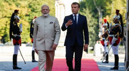narendra modi, pm modi, pm modi france visit, france, emmanuel macron, india, france, india france relations, india france ties, cyber security, 5g, 5g technology, digital technology, cyber crime, social media, indian express news