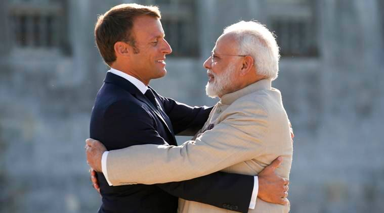 india, narendra modi, pm modi france visit. emmanuel macron, india france joint statement, climate change, efforts to deal with climate change, paris agreement, greenhouse gas emissions, greenhouse emissions india, indian express news