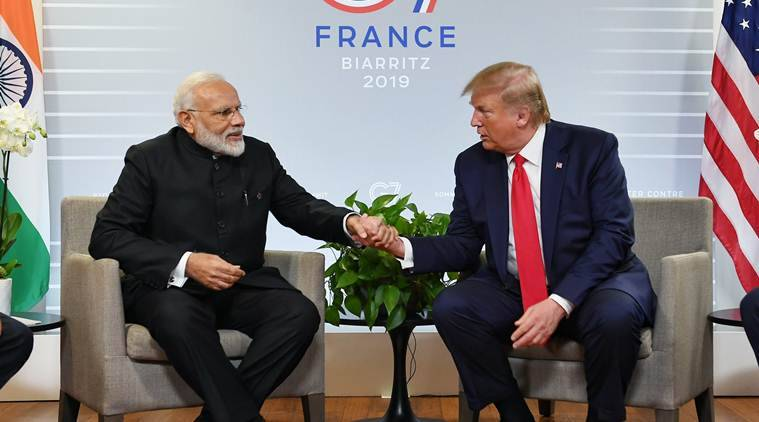 narendra modi leaves for us, modi US trip, howdy modi event, india us relations, modi trump relations, modi in us talk jammu kashmir, indian express news