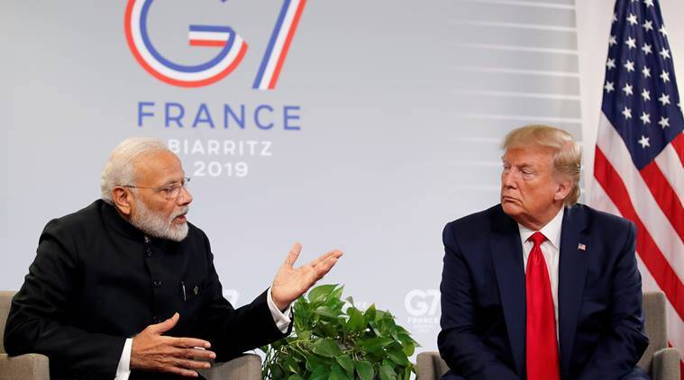 pm modi donald trump meeting g7 summit, india pakistan kashmir issue, modi trump kashmir meeting, pakistan india kashmir mediation donald trump,