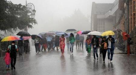 rainfall in himachal pardesh, himachal pardesh weather, weather in himachal pardesh, himachal pradesh news, indian express news