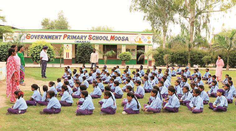 punjab government, moosa government primary school, government primary school moosa, mansa district, mansa punjab, moosa government school, india news, Indian Express