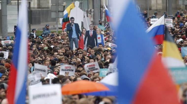 Moscow protests, russia protests, russia government, russia elections, opposition candidates, russia opposition, free elections in russia, russia news, moscow news, indian express
