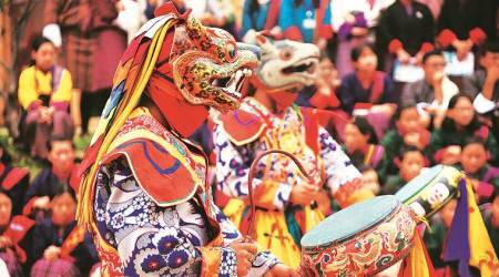 mountain echoes festival bhutan, bhutan mountain echoes festival, 10th Mountain Echoes festival bhutan, bhutan 10th mountain echoes festival, pm modi in bhutan, modi in bhutan, art and culture, Indian Express
