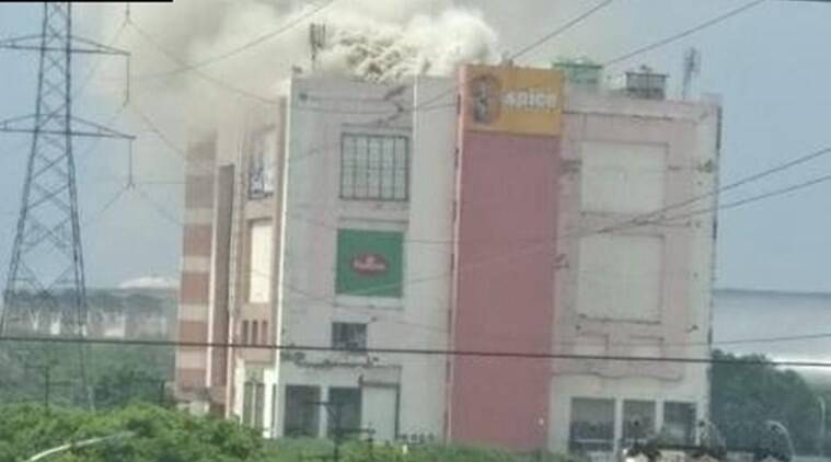 Major fire at Noida's Spice Mall, fire tenders at the site