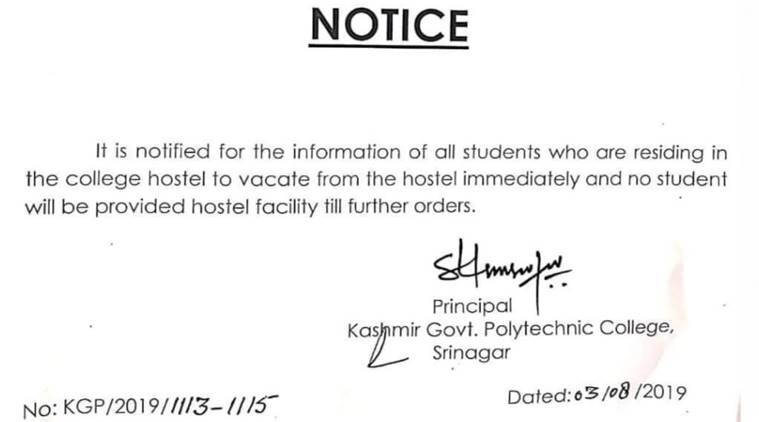 After NIT suspends classes, Govt Polytechnic College in Srinagar
