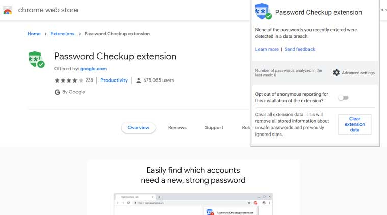 Google Chrome's Password Checkup extension is getting two