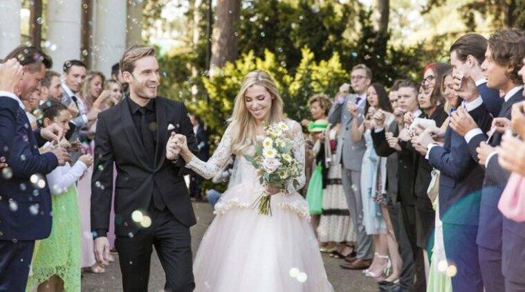 YouTube star PewDiePie ties the knot with girlfriend Marzia Bisognin