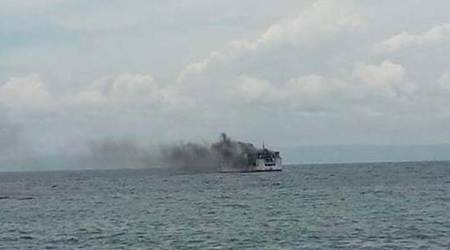 Philippine ferry fire kills 2, more than 100 people rescued