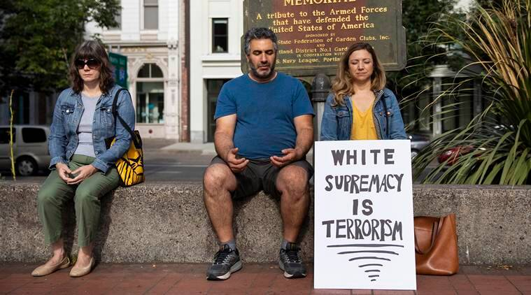 Portland protests, far right protesters, antifa, donald trump, us elections 2020, donald trump us president, indian express