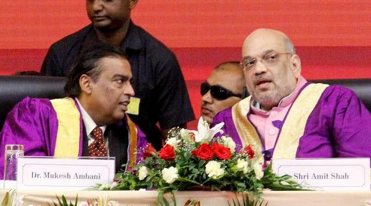 Mukesh Ambani calls Amit Shah a true karmayogi, Iron Man of our age