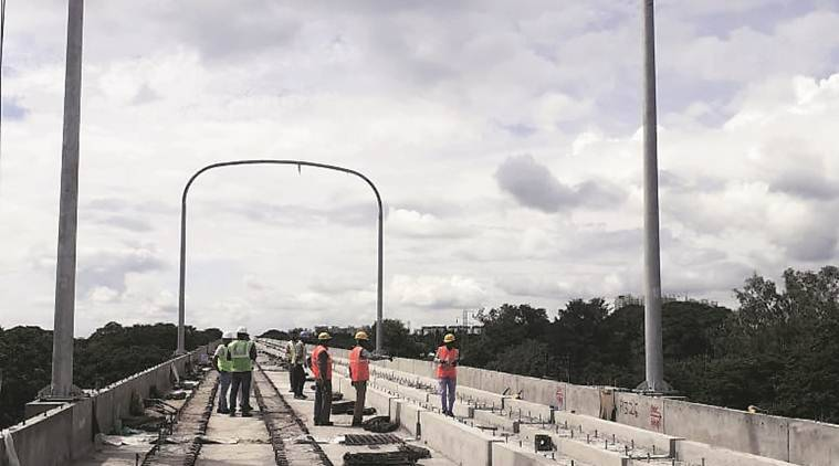 Pune metro starts installing tubular portals for overhead wire system