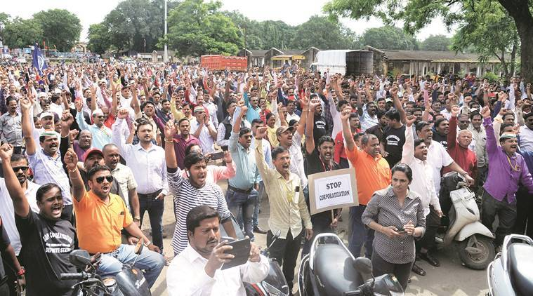 Work in Pune's defence production units comes to a halt as thousands join strike