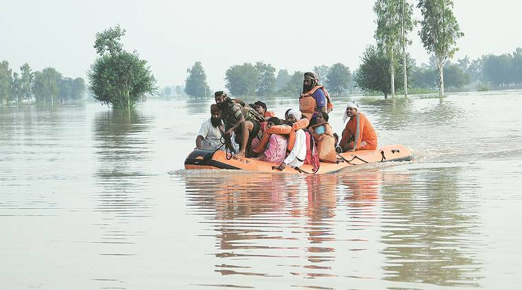 Punjab, punjab floods, floods in india, govt teams for flood assistance in india, amarinder singh, punjab news