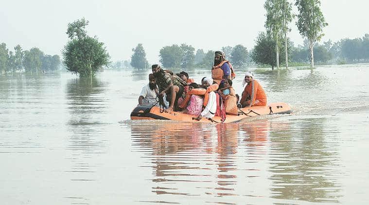 Punjab floods, punjab rains, punjab flood relief, flood situation, jalandhar floods, punjab news