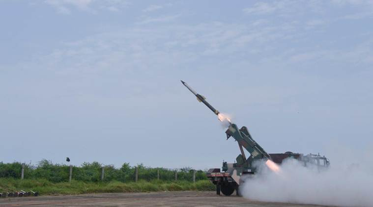 Quick Reaction Surface, india air missile, india test fires air missile, Quick Reaction Surface to Air Missile system
