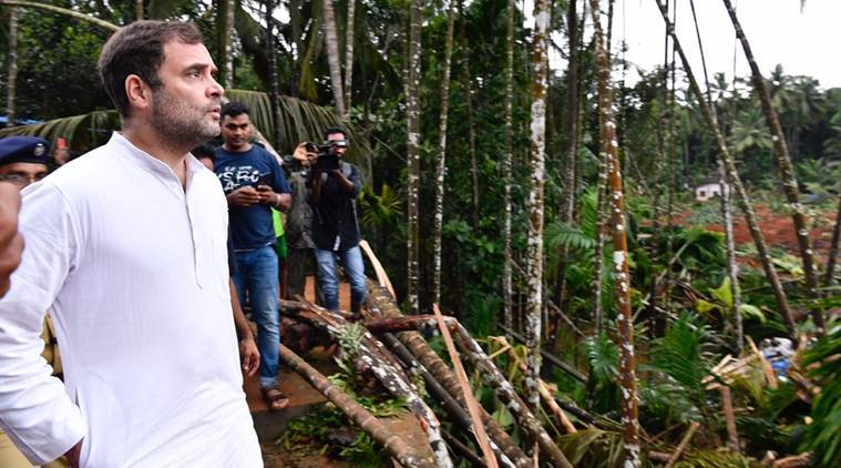 Rahul visits flood ravaged Wayanad, assures people of assistance