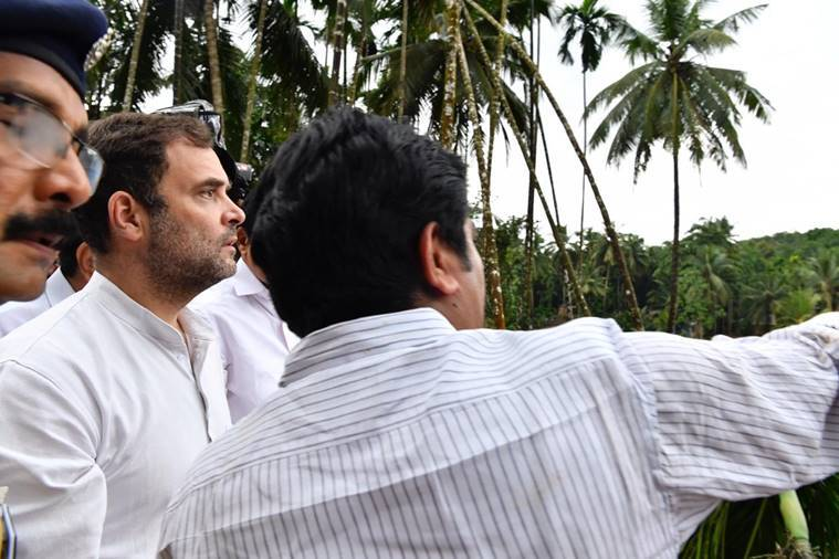 Rahul Gandhi visits flood-ravaged Wayanad, assures displaced people of assistance