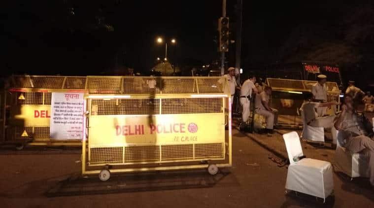 ravidas temple demolition, ravidas temple demolition protest, bhim army, chandrashekhar azad, tughlakabad protests, delhi news, indian express news