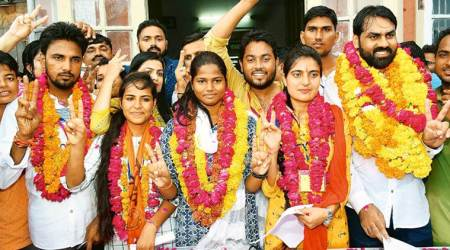 Students' union polls,Rajasthan University Students' Union ,NSUI,ABVP,NSUI ABVP rivalry, jaipur news, education news, indian express